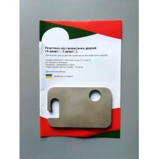 Пластины от провисания дверей Skoda Fabia (I) (2 двери)